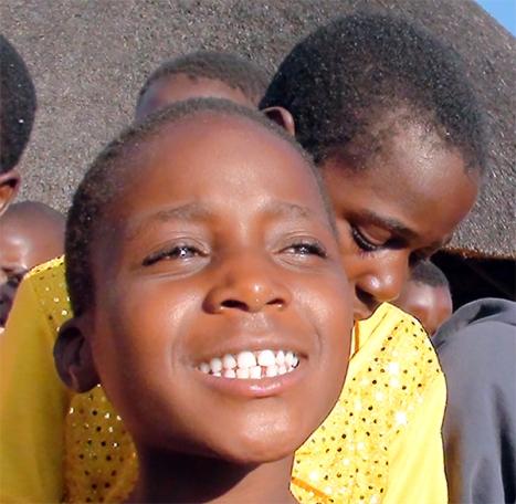 Child Zimbabwe, One World, One Heart Beating